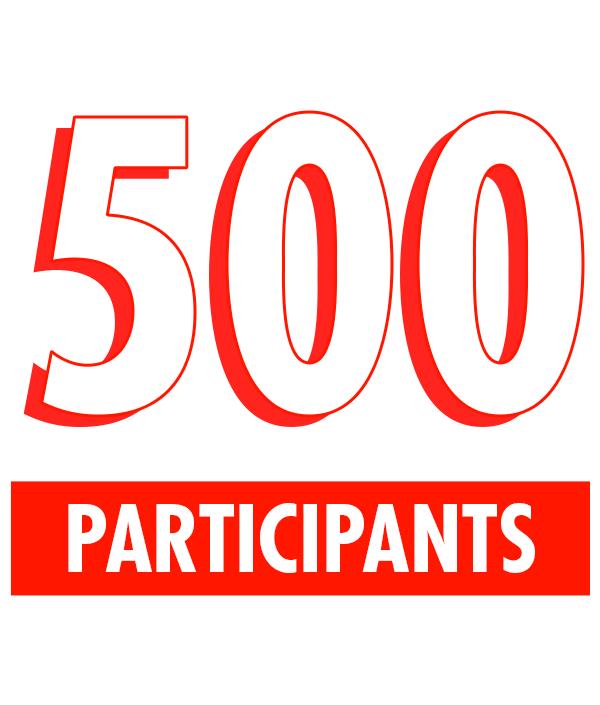 500 participants
