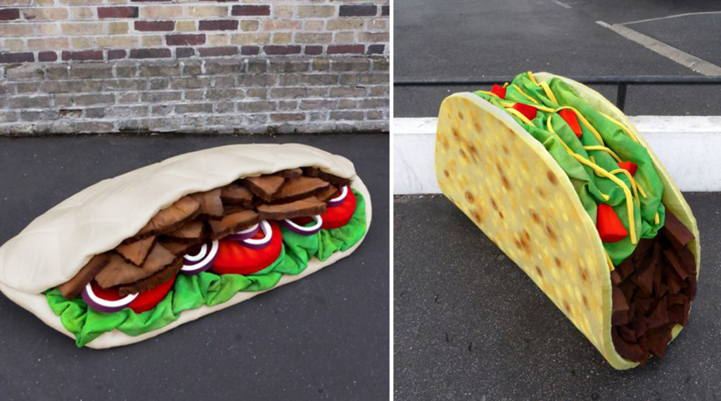 Lor-K redéfinit la «street food» avec ses sculptures éphémères 100% récup !