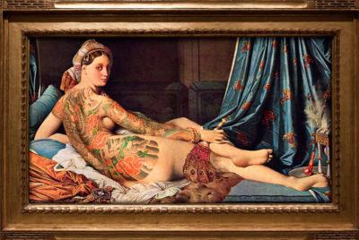 detournement-tatouage-radar-tableau-lagrandeodalisque-art-tattoo-nicolasamiard