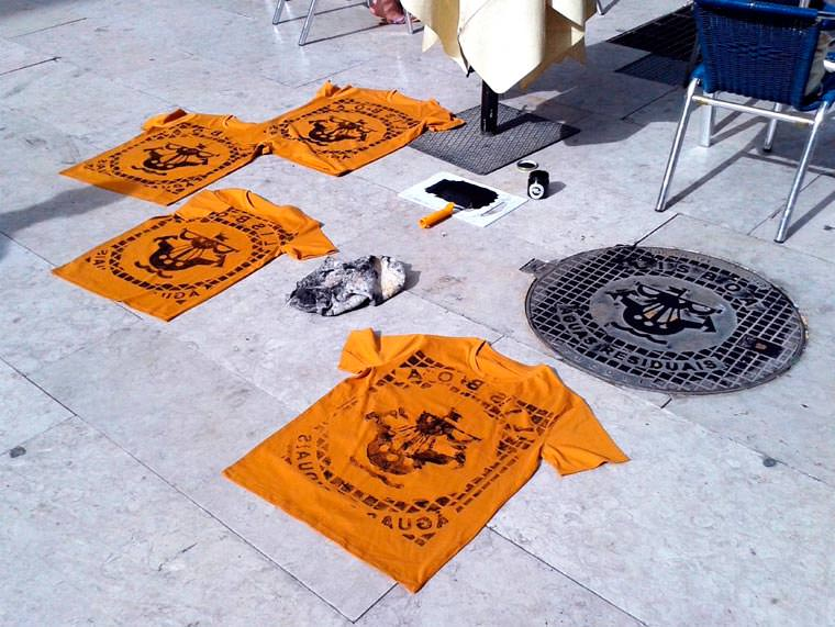 street serigraphy raubdruckerin 9jpg - Le collectif Raubdruckerin propose une collection de tee-shirts imprimés avec la rue