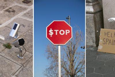 stop5 octavi serra street art activisme radar stop dollar 400x268 - Octavi Serra : portrait d'un drôle de street a(r)tiviste
