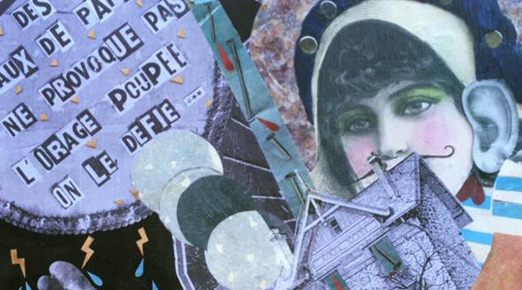 Madame Moustache Collages rétros x street haïkus