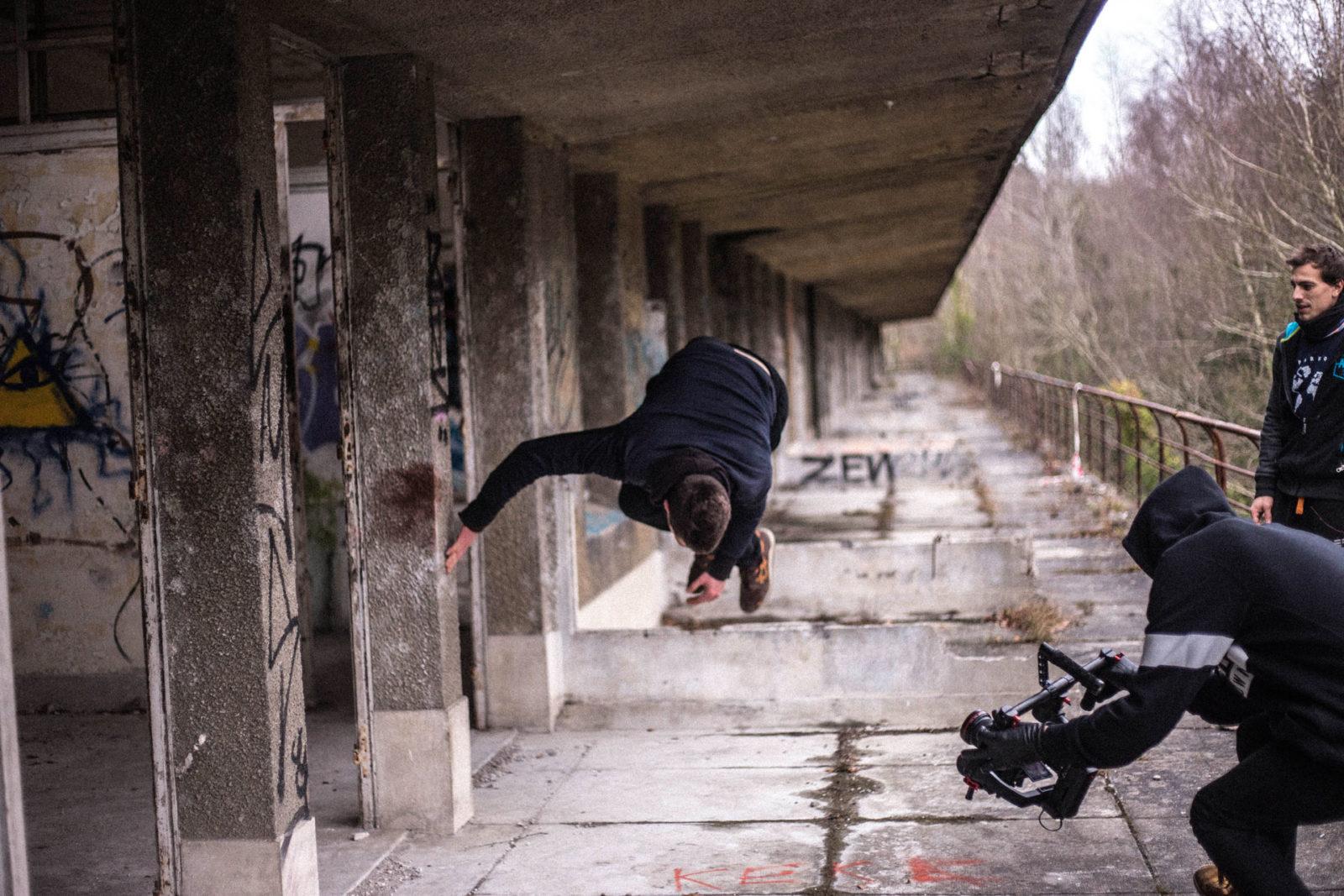 IMG5558 - Urbex x Parkour : visite acrobatique d'un sanatorium abandonné