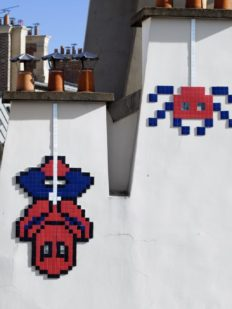 invader-spiderman-araignee-spider-spaceinvader-toit-mur