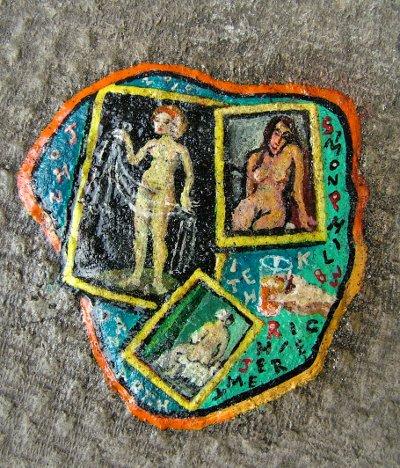 BenWilson chewing gum man londres arturbain tableau peintre chewingum - Ben Wilson transforme des chewing-gums déjà mâchés... en oeuvres d'art !