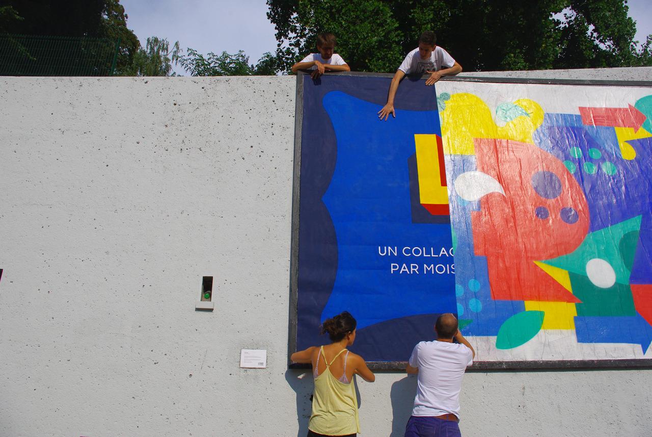 Lemur Saint Etienne mur collage streetart recouvrement - 16 villes payent déjà leur M.U.R. !