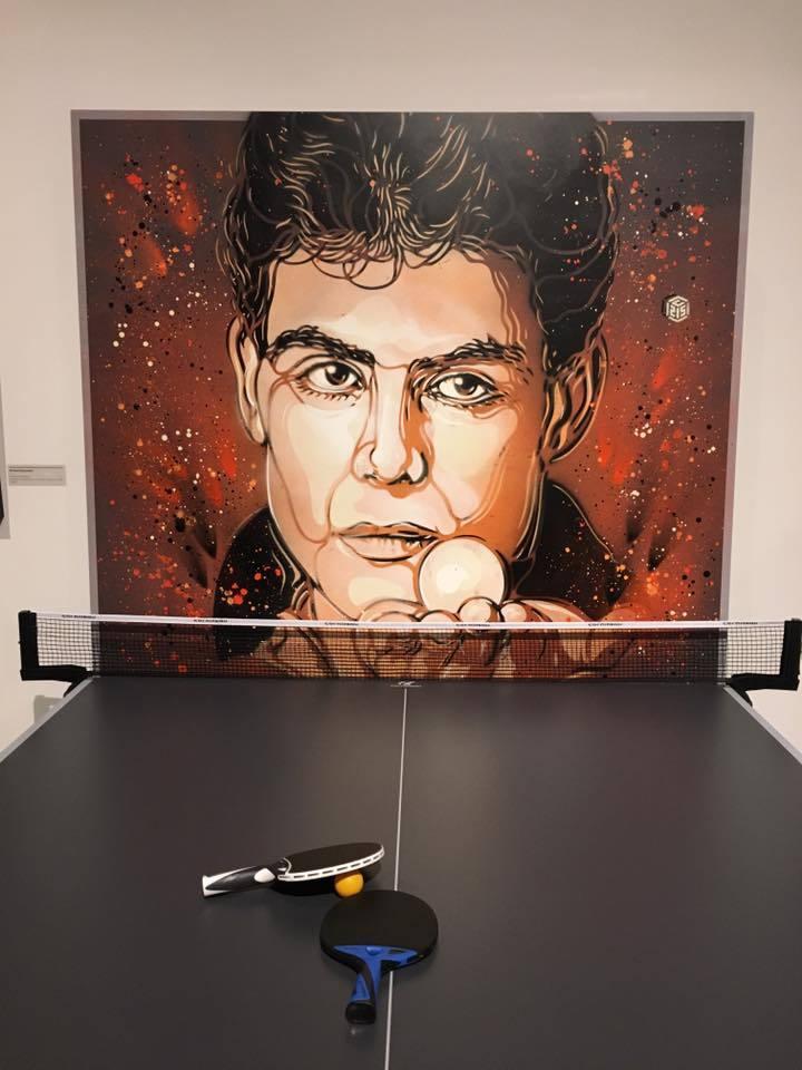 C215 pochoir portraits sportifs streetart nice museedusport niceping pong - Athlètes : C215, le champion du pochoir,