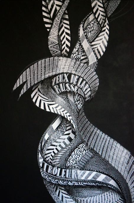 MatthieuDagorn lapinthur sculpture bois streetart leterrier 9econcept francscolleurs .13 - - Interview -