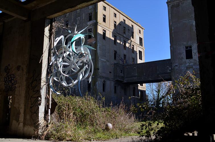 MatthieuDagorn lapinthur sculpture bois streetart leterrier 9econcept francscolleurs Port saint louis - - Interview -