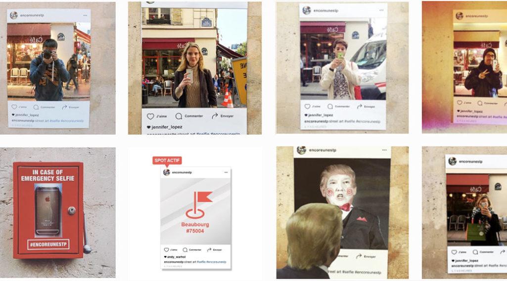 Les Insta'mirrors d'@encoreunestp font du selfie un «art de rue» !