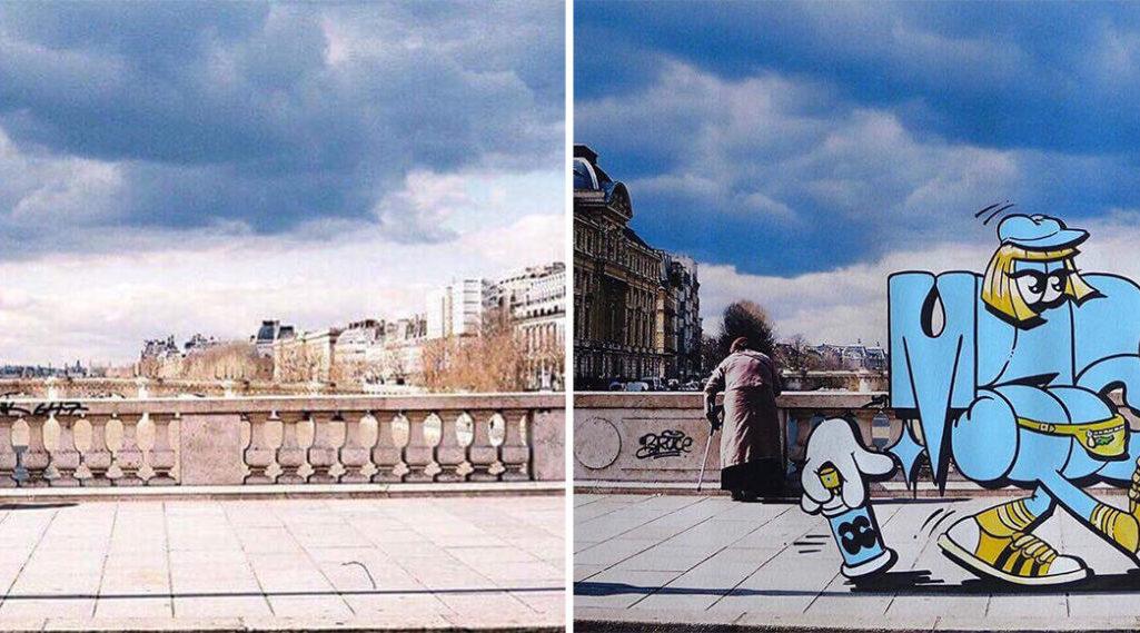 Potograff : des photos de Paris illustrées par des graffeurs et des tatoueurs