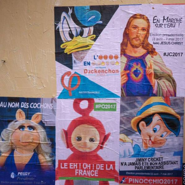 ComboCultureKidnapperdonaldpinocchioaffichedetournementstreetartpresidentelectionparis - Quand le street art squatte les affiches de la campagne présidentielle...