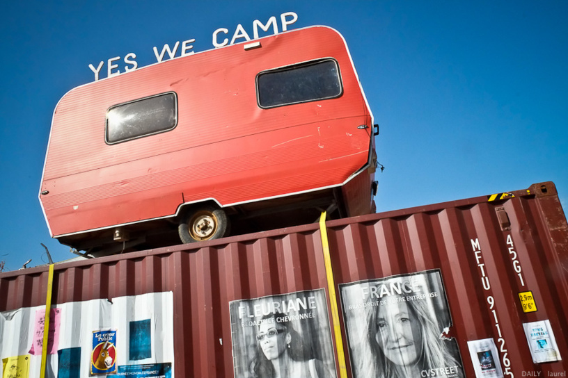 yeswecamp caravane container asso urbanisme affiche Marseille - Yes we camp !
