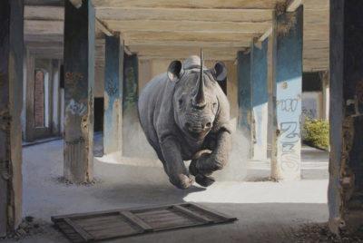 Josh_Keyes_peinture_animal_streetart_homme_environnement_rue_rhinoceros_RADAR_cover_article_Base_72dpi
