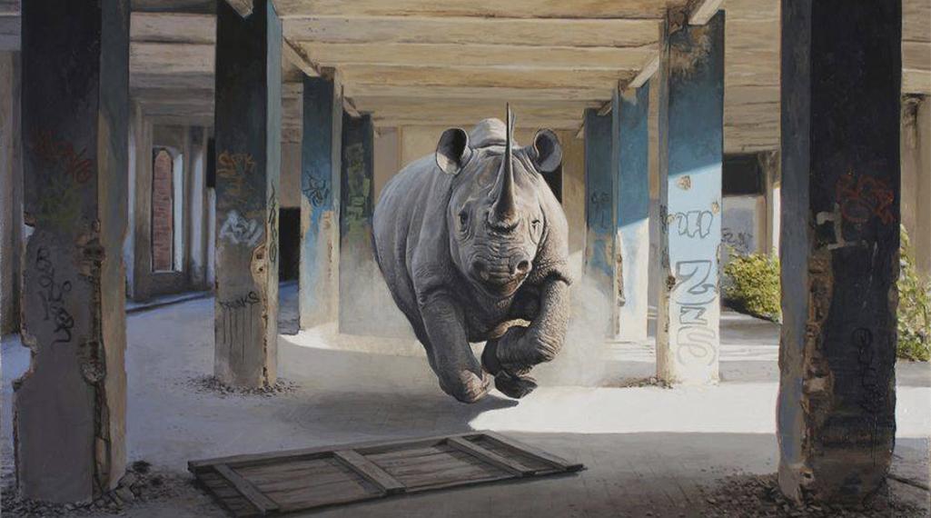 Josh Keyes, le peintre à l'univers street-apocalyptique