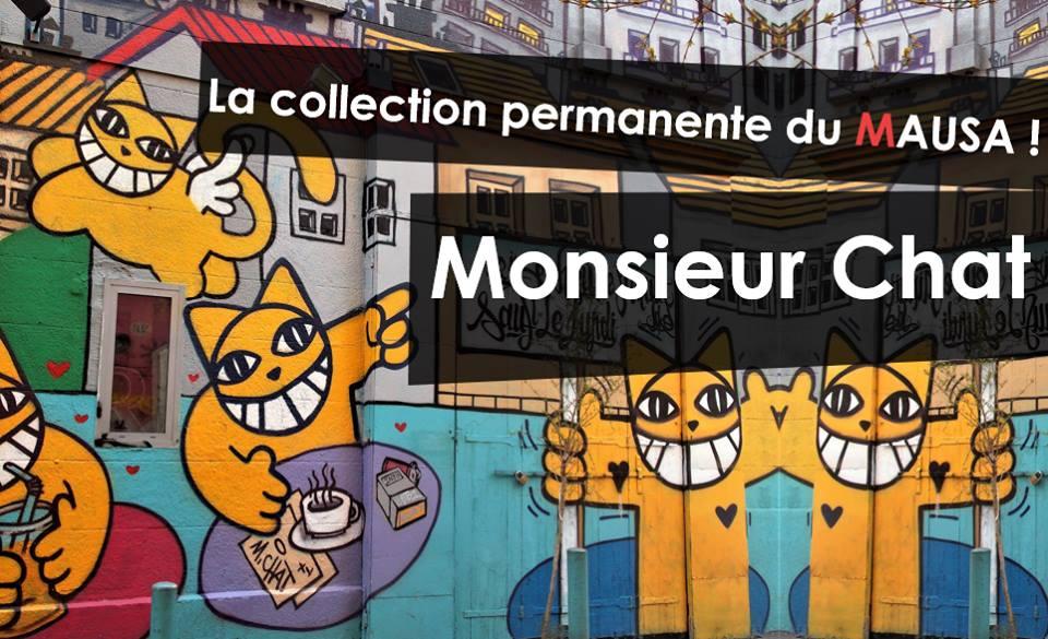 MONSIEURCHATMAUSAmuseestreetarturbainartistesfrance - Le MAUSA, premier musée français dédié à l'art urbain