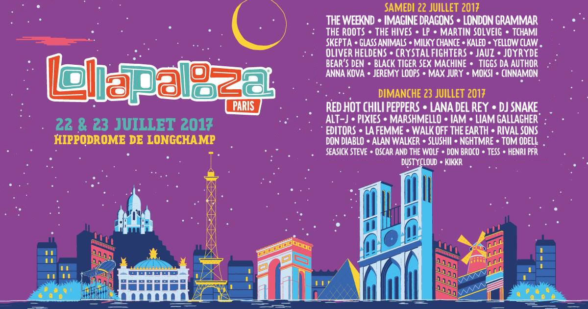 lollapaloozaparismusiquefestivaleventevenementparis - Save the date : la crème des events x Juillet .17