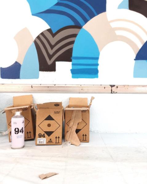 colorama festival street art biarritz artistes couleur bleu ete oeuvre3 - Colorama, le rendez-vous street art de l'été