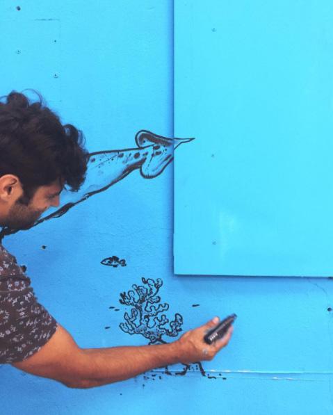colorama festival street art biarritz artistes couleur bleu ete oeuvre4 - Colorama, le rendez-vous street art de l'été