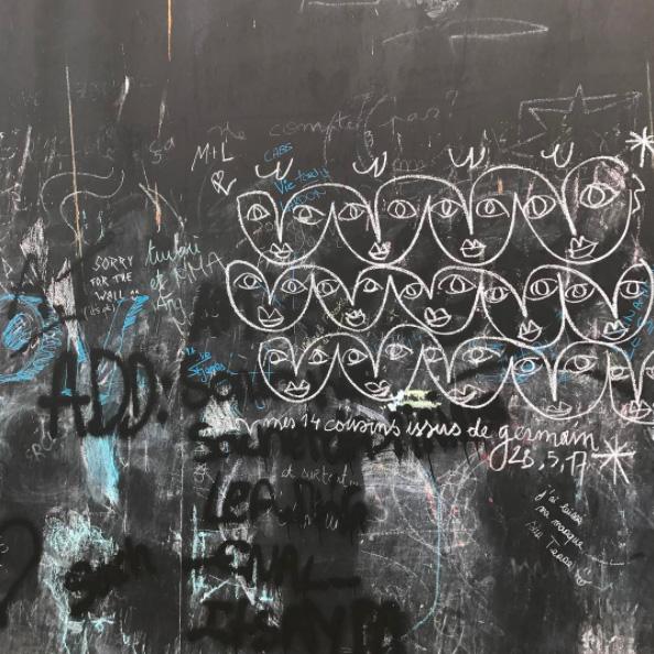 jc de castelbajac craieteur street art craie11 - Craieateur : quand JC de Castelbajac poétise la ville