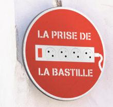 Jinks Kunst pose sa «French touch» sur les panneaux de rue