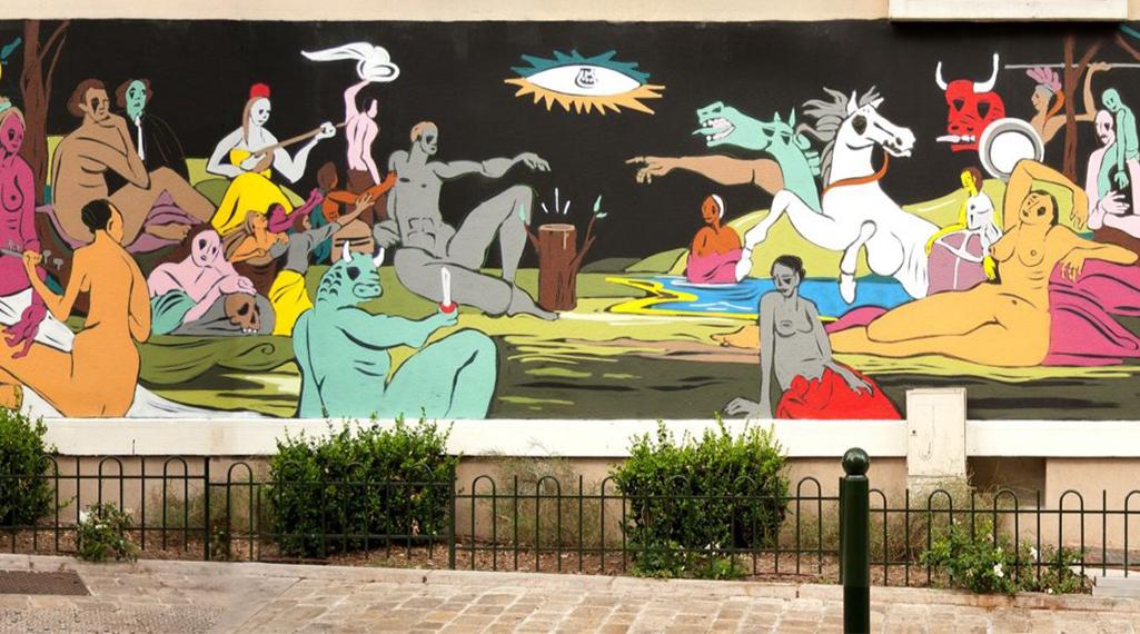 Le street artiste Onie réunit 16 chefs-d'œuvre dans une seule et même murale
