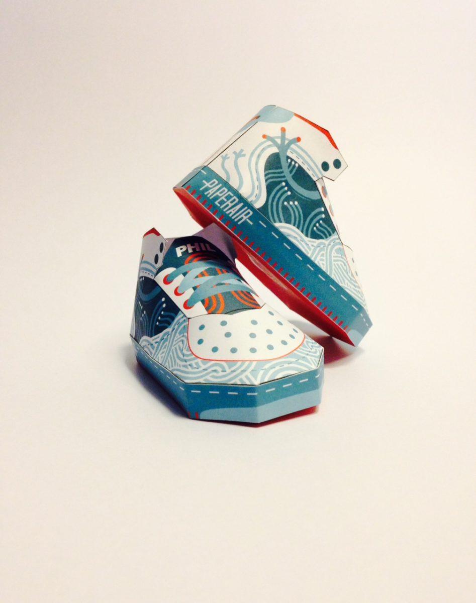 phil toys origami paper art sneakers nike shoes paperair 2 - PaperAir, des paires de sneakers en version papier