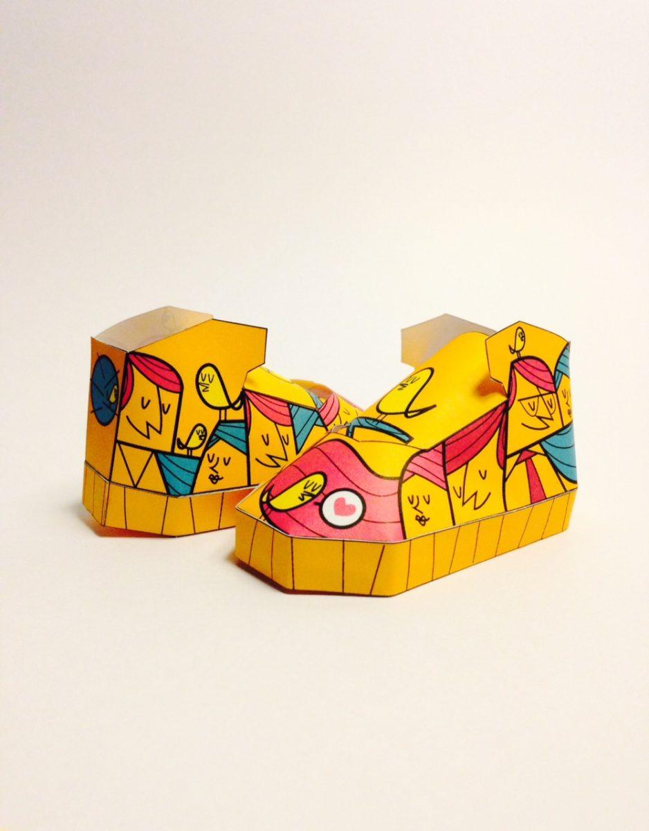 phil toys origami paper art sneakers nike shoes paperair 4 - PaperAir, des paires de sneakers en version papier
