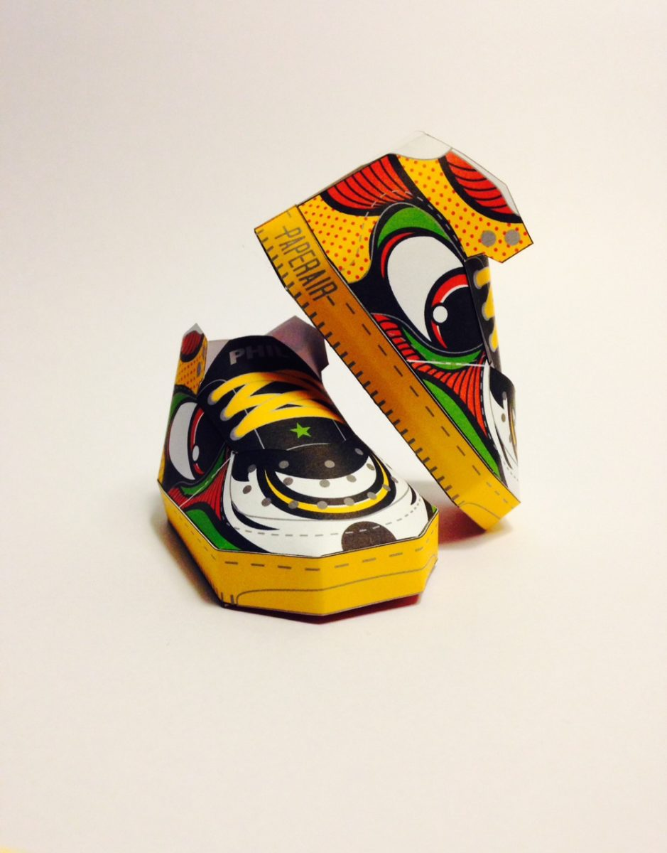 phil toys origami paper art sneakers nike shoes paperair 5 - PaperAir, des paires de sneakers en version papier