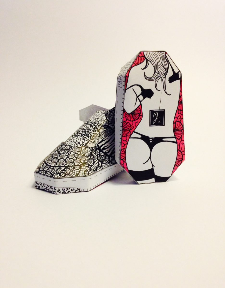 phil toys origami paper art sneakers nike shoes paperair 6 - PaperAir, des paires de sneakers en version papier