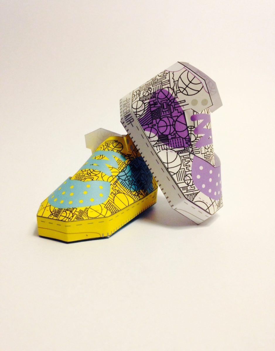 phil toys origami paper art sneakers nike shoes paperair 7 - PaperAir, des paires de sneakers en version papier