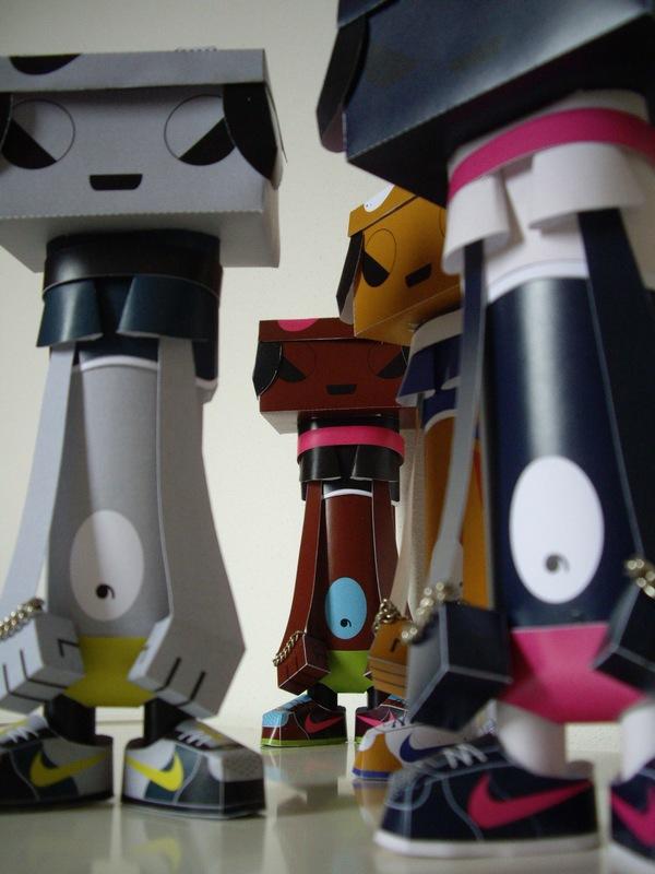 phil toys origami paper art sneakers nike - PaperAir, des paires de sneakers en version papier