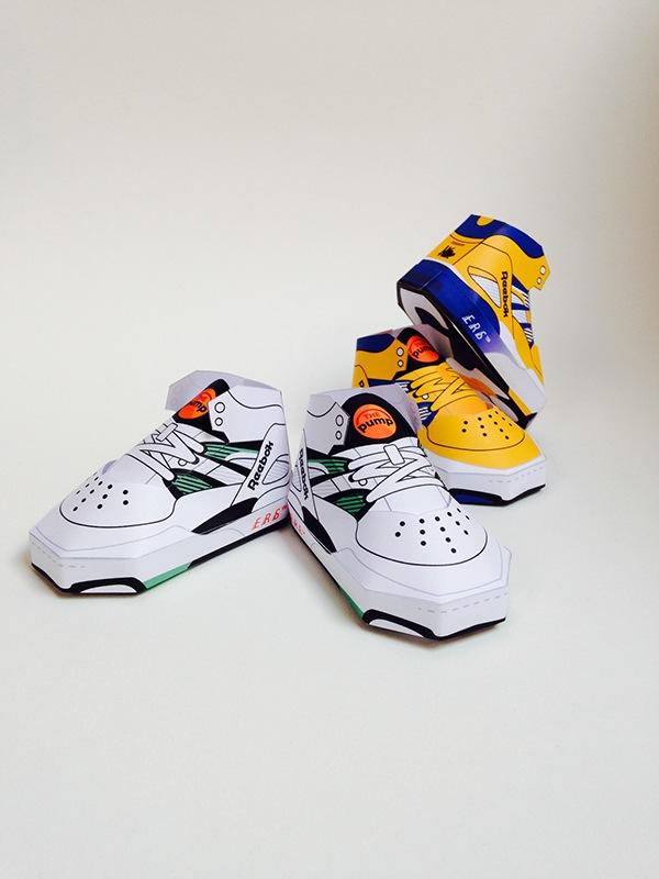 phil toys origami paper art sneakers reebok - PaperAir, des paires de sneakers en version papier