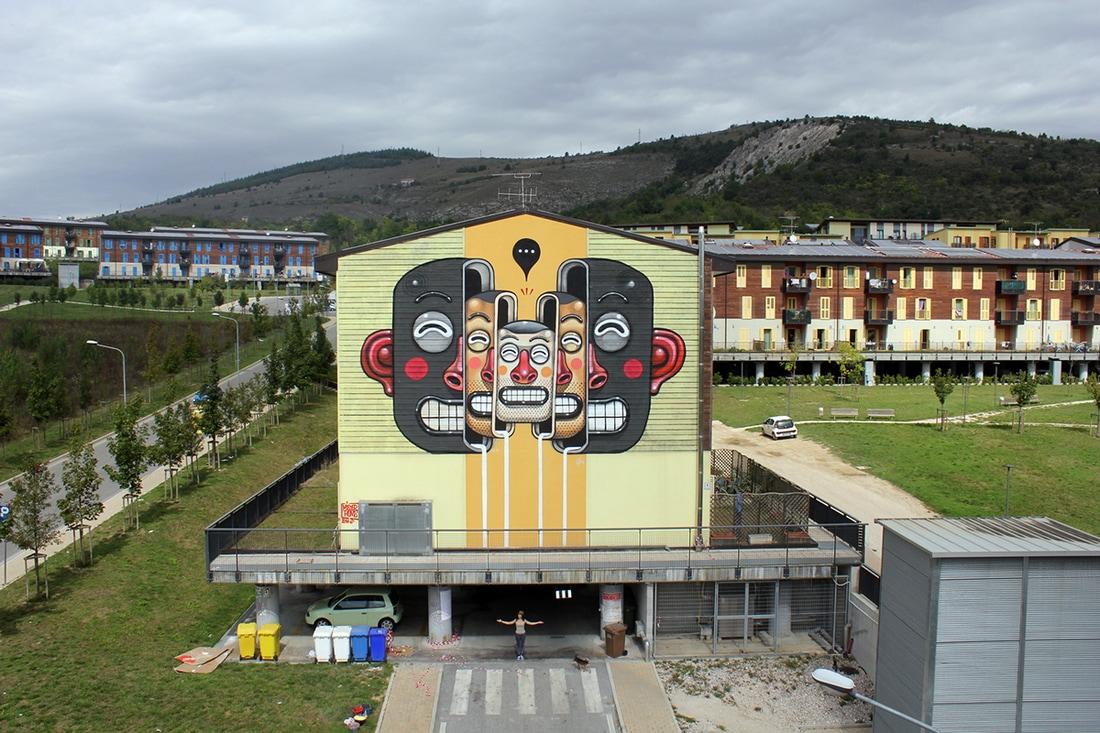 diego della posta mister thoms street art italy racism - Mister Thoms : skatepark arty et fresque 3D