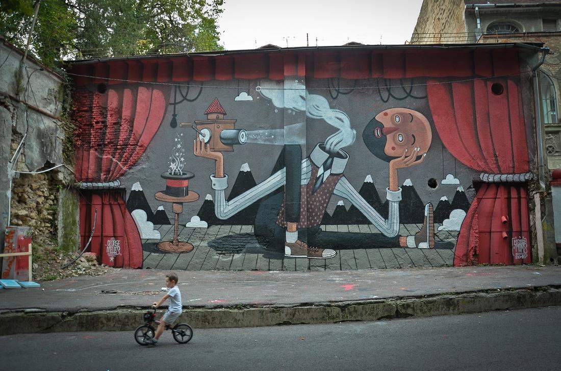 diego della posta mister thoms street art italy - Mister Thoms : skatepark arty et fresque 3D