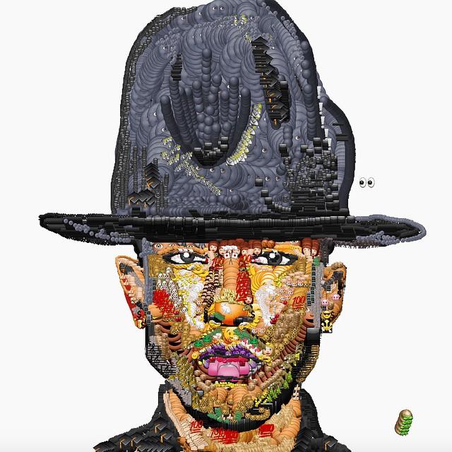 jake petterson yung jake emoji art pharrell - Avec des emojis, Yung Jake refait le portrait de vos rappeurs préférés