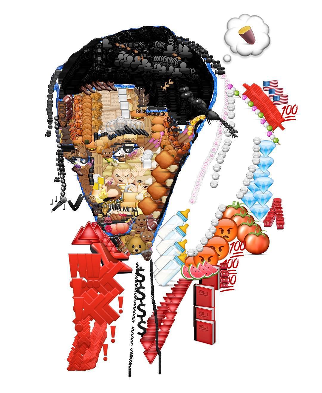 jake petterson yung jake emoji art rap - Avec des emojis, Yung Jake refait le portrait de vos rappeurs préférés