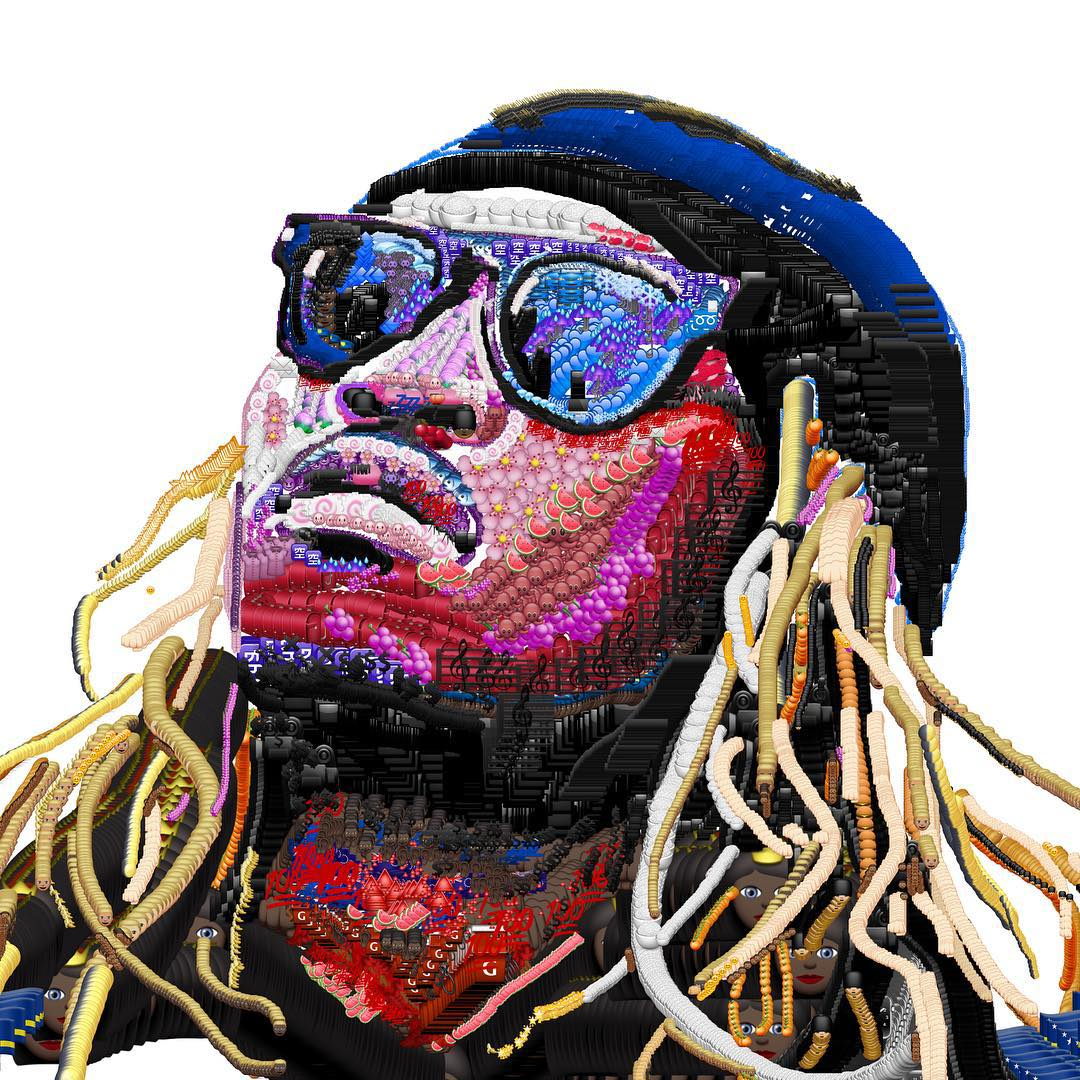 jake petterson yung jake emoji art rappeur - Avec des emojis, Yung Jake refait le portrait de vos rappeurs préférés