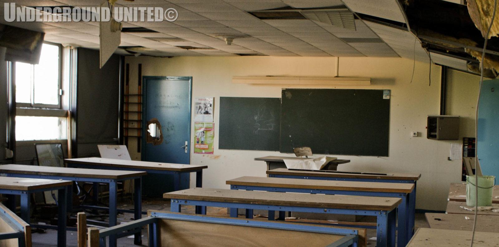 rentreescolaire college lieuxabandonnes urbex explorationurbaine radar allurbanmakers undergroundunited 111832o - De la maternelle à la fac, découvrez les plus belles écoles abandonnées !