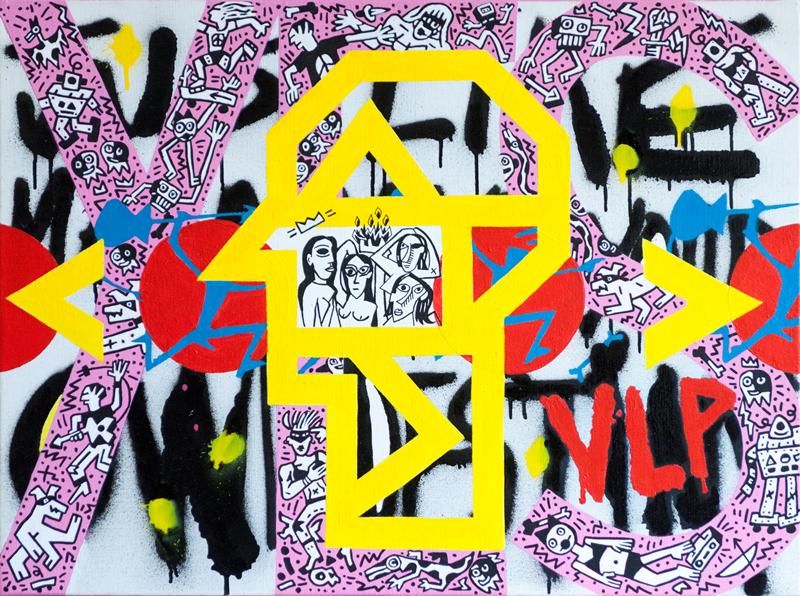 vlp vive la peinture retrospective exposition jean gabaret michel espagnon2 - Rétrospective Vive La Peinture : il était une fois les pères du graffiti