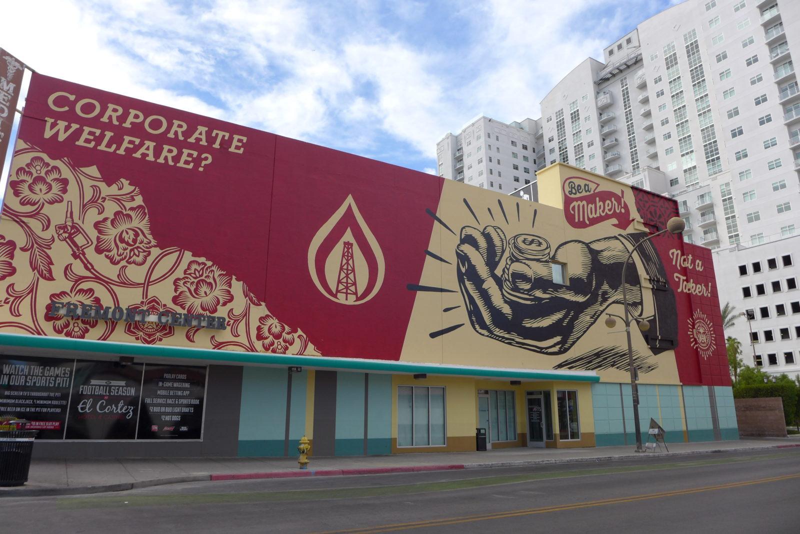 arturbain lasvegas street art murals radar graffitiShepard Fairey - À Las Vegas, un festival de street art et musique revitalise un quartier en perdition