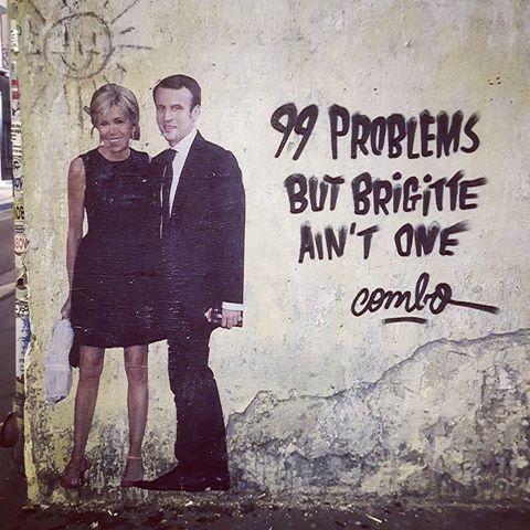 combo arturbain streetart message politique radar paris 189498421613507210728367697410799861497856n - Macron, Trump,... le street artiste Combo affiche les politiques avec ses tags satiriques