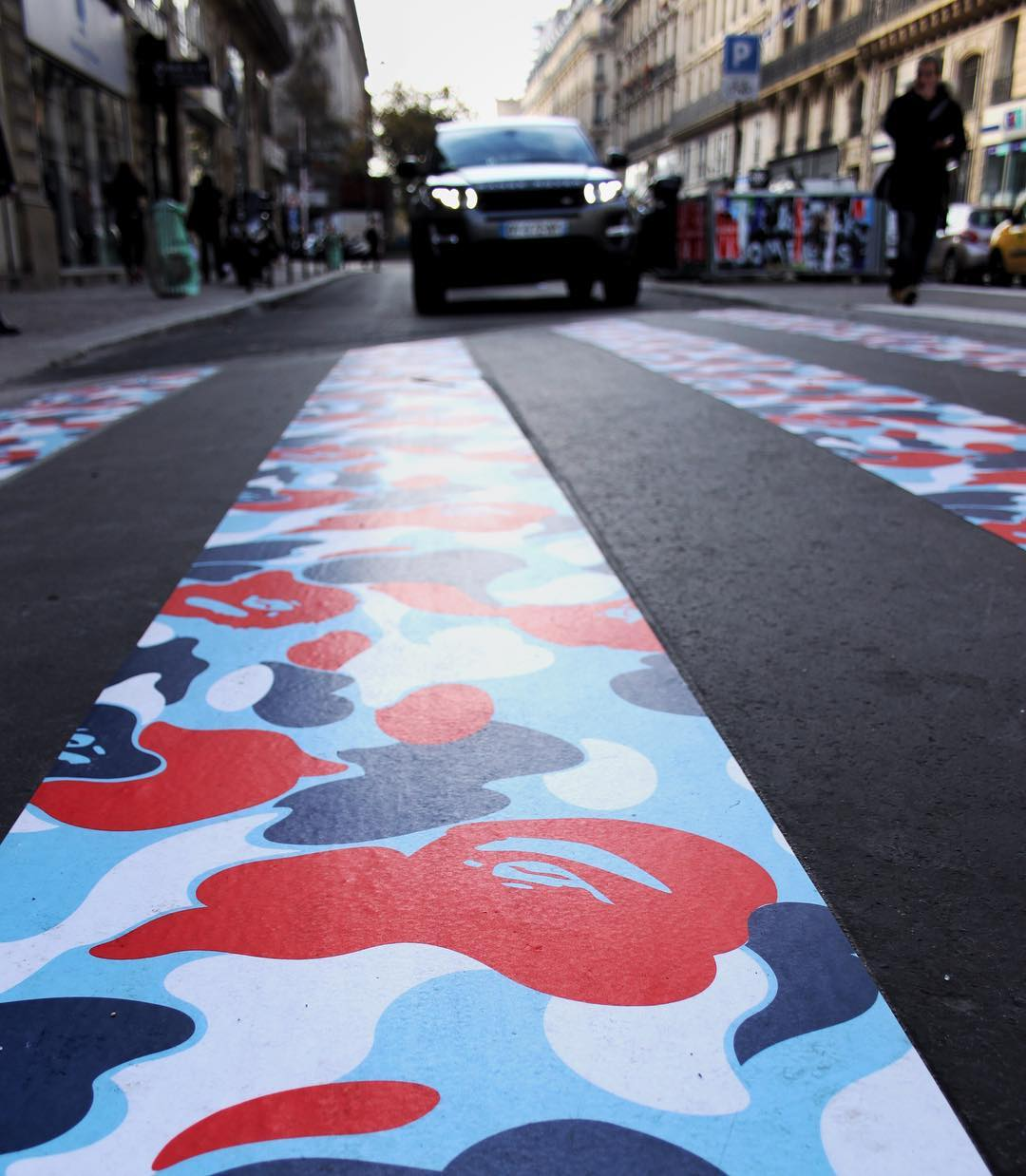 BAPE Paris store shop ouverture ABathingApe Instagram diegoparis - BAPE :  opération camouflage dans les rues de Paris pour l'ouverture de son shop