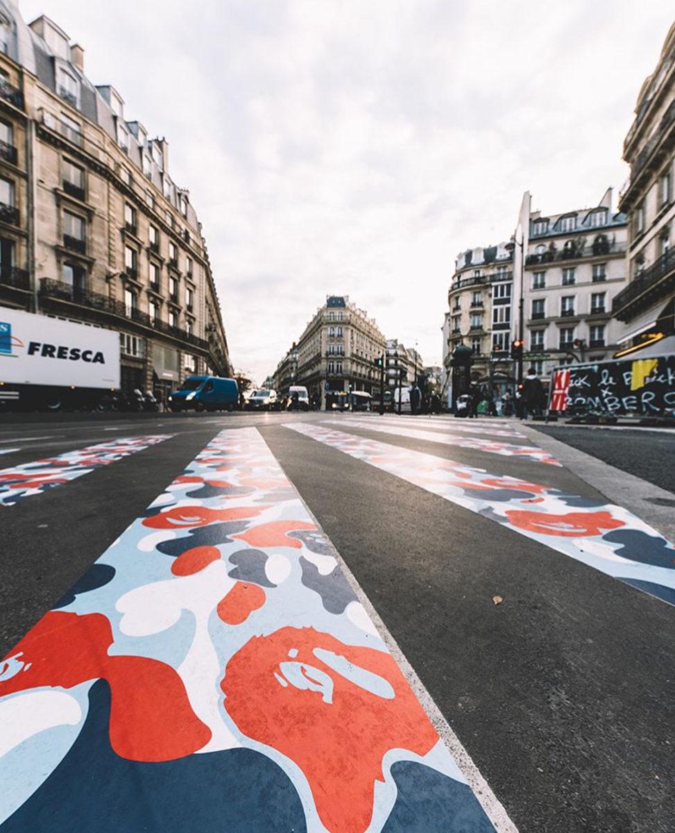 BAPE Paris store shop ouverture ABathingApe Instagram hypedstreets - BAPE :  opération camouflage dans les rues de Paris pour l'ouverture de son shop