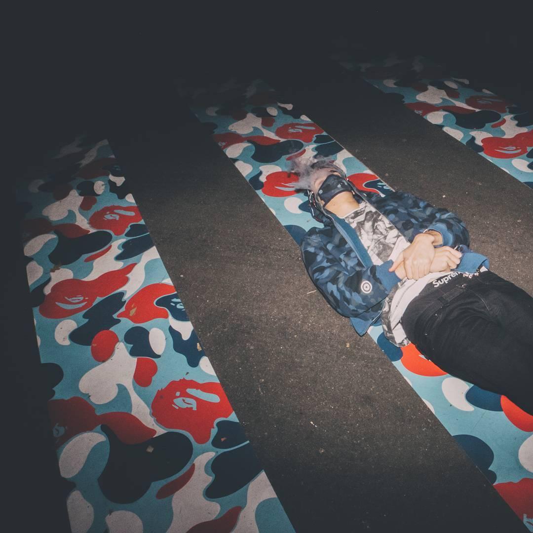 BAPE Paris store shop ouverture ABathingApe Instagram streestyleinparis - BAPE :  opération camouflage dans les rues de Paris pour l'ouverture de son shop