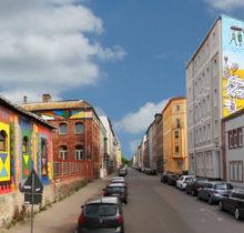 Désertée, la ville allemande de Halle reprend vie grâce au street art