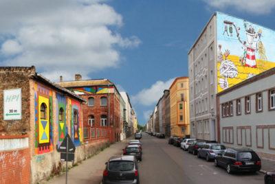 Halle-ville-allemande-streetart-vorne-rue