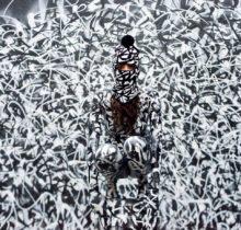 Sliks représente le pixaçao, graffiti vandale brésilien, à la galerie Ground Effect