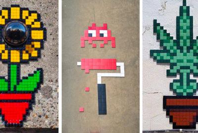 invader-pixelart-ovni-alien-mosaique-streetart