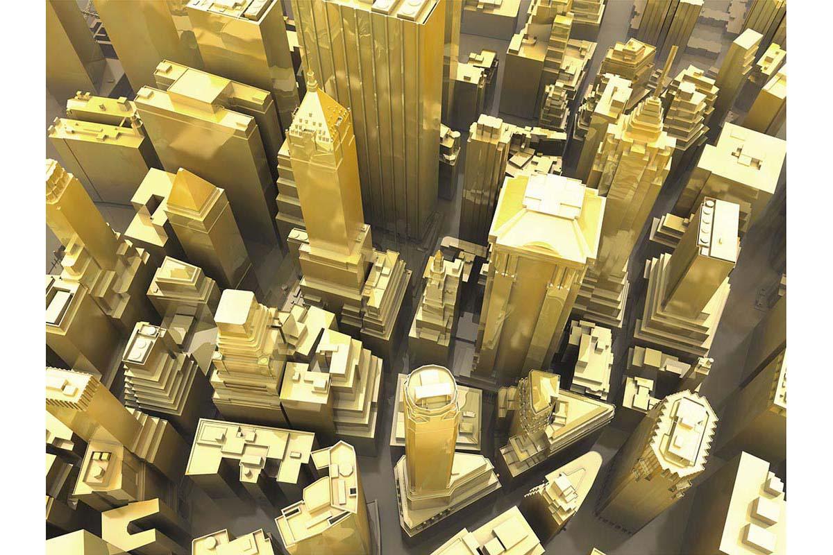 victorenrich architecture illustration 3d illusion photographie 11 - Victor Einrich, le photographe qui fait léviter les immeubles et renverse la ville